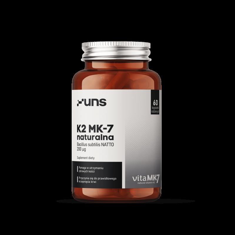 UNS NATURALNA WITAMINA K2 MK7 Z NATTO60 vege kaps.